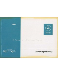 1971 MERCEDES BENZ 600 OWNERS MANUAL GERMAN