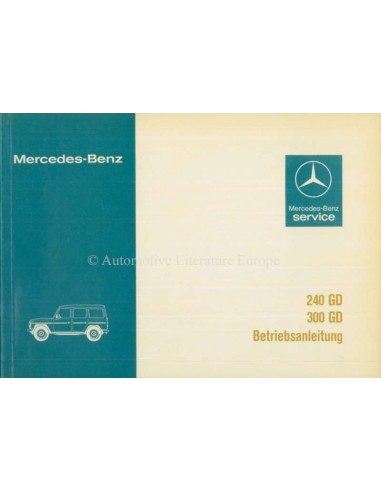 1981 MERCEDES BENZ G CLASS 240GD 300GD OWNERS MANUAL GERMAN