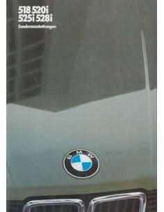 1982 BMW 5 SERIES ACCESSORIES BROCHURE GERMAN