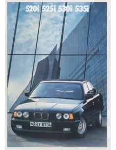 1988 BMW 5ER PROSPEKT NIEDERLÄNDISCH
