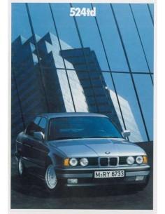 1988 BMW 5 SERIES BROCHURE GERMAN