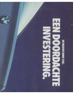 1989 BMW 5 SERIES BROCHURE DUTCH