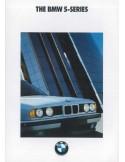 1990 BMW 5 SERIES BROCHURE ENGLISH