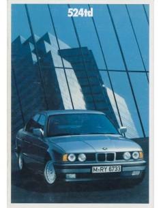 1989 BMW 5 SERIES BROCHURE GERMAN