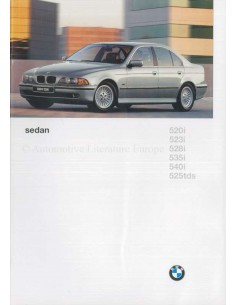 1996 BMW 5 SERIES SALOON BROCHURE DUTCH