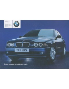 2002 BMW 5 SERIES SALOON BROCHURE ENGLISH