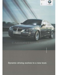 2003 BMW 5 SERIES BROCHURE ENGLISH