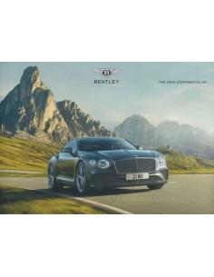 2018 BENTLEY CONTINENTAL GT RANGE PROSPEKT ENGLISCH
