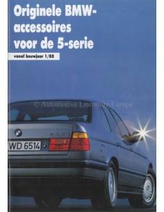 1988 BMW 5 SERIES ACCESSORIES BROCHURE DUTCH