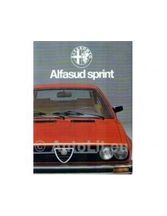 1978 Alfa Romeo Alfasud Sprint Brochure Dutch