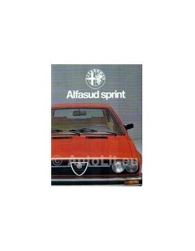 1978 Alfa Romeo Alfasud Sprint Brochure Nederlands