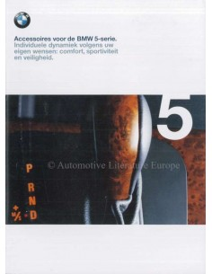 1998 BMW 5 SERIES ACCESSORIES BROCHURE DUTCH
