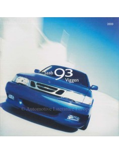 2000 SAAB 9-3 VIGGEN BROCHURE ENGLISH (USA)