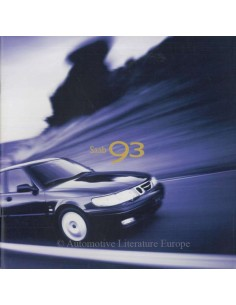 1999 SAAB 9-3 PROSPEKT ENGLISCH (USA)