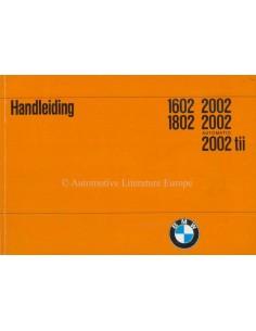 1972 BMW 1602 1802 2002 OWNERS MANUAL DUTCH