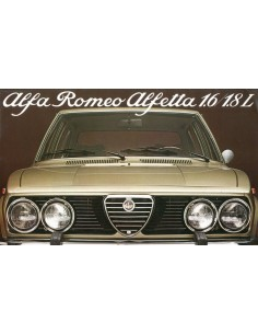 1978 ALFA ROMEO ALFETTA 1.6 & 1.8 L BROCHURE DUTCH