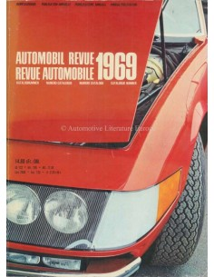 1969 AUTOMOBIL REVUE YEARBOOK GERMAN FRENCH