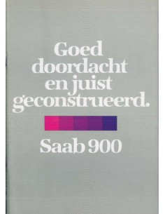 1980 SAAB 900 BROCHURE DUTCH