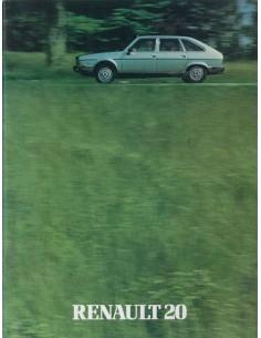 1980 RENAULT 20 BROCHURE DUTCH