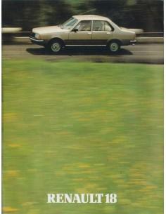 1980 RENAULT 18 BROCHURE DUTCH