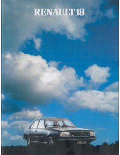 1981 RENAULT 18 BROCHURE DUTCH