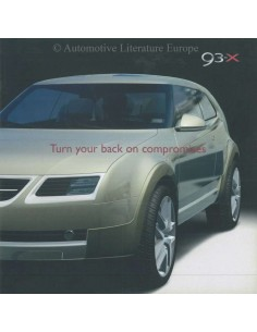 2002 SAAB 9-3X PROSPEKT ENGLISCH