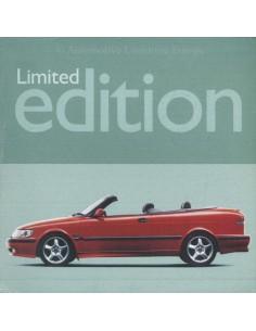 2000 SAAB 9-3 CABRIOLET LIMITED EDITION DATENBLATT NIEDERLÄNDISCH