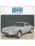 1968 FERRARI 365 GTC PININFARINA BROCHURE 28/68