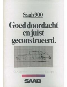 1982 SAAB 900 PROSPEKT NIEDERLÄNDISCH