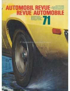 1971 AUTOMOBIL REVUE YEARBOOK GERMAN FRENCH