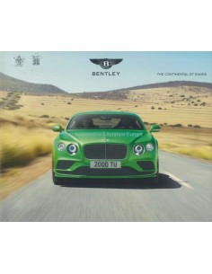 2016 BENTLEY CONTINENTAL GT RANGE HARDCOVER BROCHURE ENGLISH