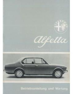 1974 ALFA ROMEO ALFETTA INSTRUCTIEBOEKJE DUITS