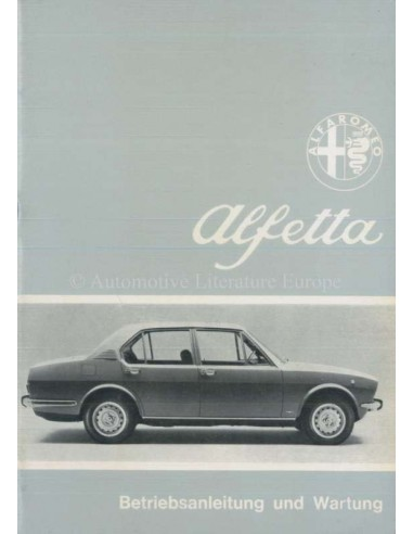 1974 ALFA ROMEO ALFETTA OWNERS MANUAL GERMAN