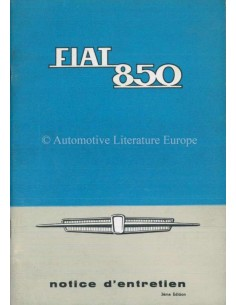 1965 FIAT 850 OWNERS MANUAL FRENCH