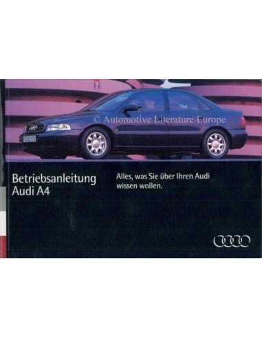 1994 AUDI A4 INSTRUCTIEBOEKJE DUITS