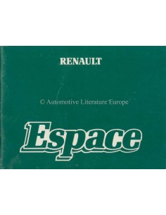 1984 RENAULT ESPACE OWNERS MANUAL FRENCH