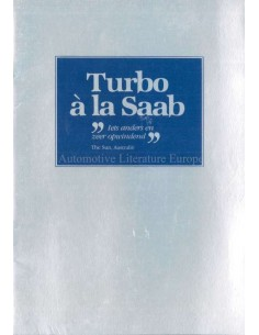 1982 SAAB 900 TURBO A LA SAAB BROCHURE DUTCH
