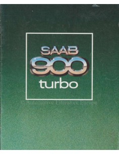 1979 SAAB 900 TURBO PROSPEKT NIEDERLÄNDISCH