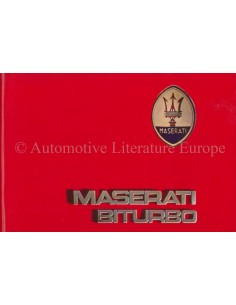 1987 MASERATI BITURBO MAINTENANCE & WARRANTY MANUAL ENGLISH ***BLANCO***