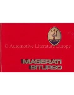 1987 MASERATI BITURBO ONDERHOUDSBOEKJE ENGELS ***BLANCO***