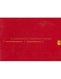 2005 FERRARI HI-FI WARRANTY CARD & OWNERS SERVICE BOOK ***BLANCO***