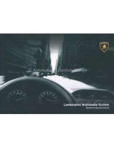 2006 LAMBORGHINI GALLARDO MULTIMEDIA-SYSTEM BETRIEBSANLEITUNG DUITS