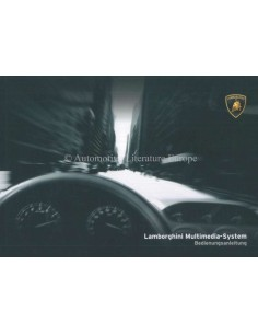 2006 LAMBORGHINI GALLARDO MULTIMEDIA-SYSTEM OWNERS MANUAL GERMAN