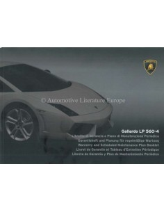 2008 LAMBORGHINI GALLARDO LP 560-4 WARRANTY & MAINTENANCE MANUAL