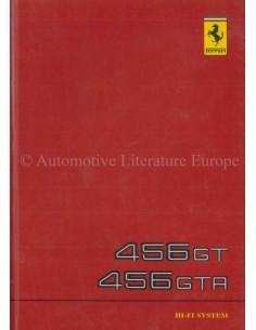 1994 FERRARI 456 GT 456 GTA CHANGER CONTROL RECEIVER XTC-F10 HI-FI INSTRUCTIEBOEKJE 819/94