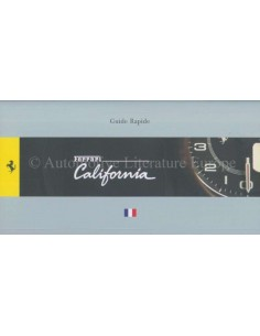 2008 FERRARI CALIFORNIA QUICK CONSULTATION GUIDE (FRENCH VERSION) 3379/08