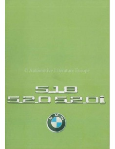 1975 BMW 5ER PROSPEKT NIEDERLÄNDISCH