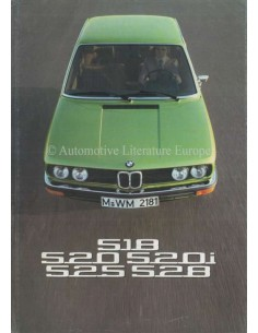 1975 BMW 5 SERIES BROCHURE GERMAN