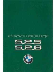 1975 BMW 5 SERIES BROCHURE DUTCH