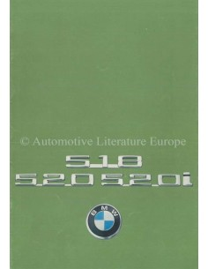 1976 BMW 5 SERIES BROCHURE DUTCH